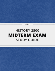 HISTORY 2500- Midterm Exam Guide - Comprehensive Notes for the exam ( 68 pages long!)