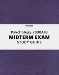 Psychology 2030A/B- Midterm Exam Guide - Comprehensive Notes for the exam ( 31 pages long!)