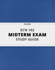 ECN 102- Midterm Exam Guide - Comprehensive Notes for the exam ( 92 pages long!)