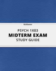 PSYCH 1X03- Midterm Exam Guide - Comprehensive Notes for the exam ( 29 pages long!)