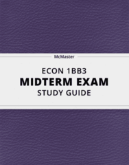 ECON 1BB3- Midterm Exam Guide - Comprehensive Notes for the exam ( 102 pages long!)