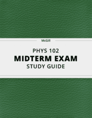 PHYS 102- Midterm Exam Guide - Comprehensive Notes for the exam ( 59 pages long!)