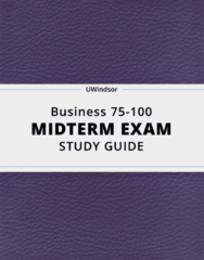 Business 75-100- Midterm Exam Guide - Comprehensive Notes for the exam ( 24 pages long!)