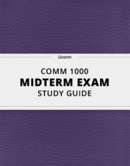 COMM 1000- Midterm Exam Guide - Comprehensive Notes for the exam ( 27 pages long!)