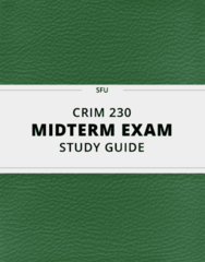 CRIM 230- Midterm Exam Guide - Comprehensive Notes for the exam ( 26 pages long!)