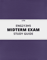 ENG213H5- Midterm Exam Guide - Comprehensive Notes for the exam ( 19 pages long!)