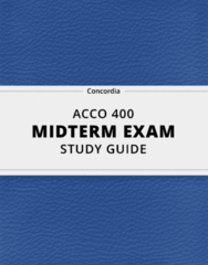 ACCO 400- Midterm Exam Guide - Comprehensive Notes for the exam ( 14 pages long!)