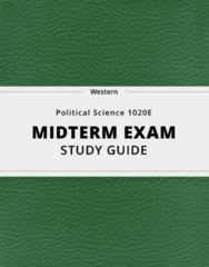 Political Science 1020E- Midterm Exam Guide - Comprehensive Notes for the exam ( 22 pages long!)