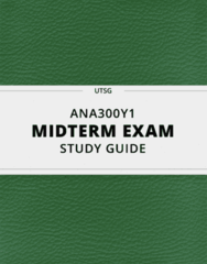ANA300Y1- Midterm Exam Guide - Comprehensive Notes for the exam ( 50 pages long!)