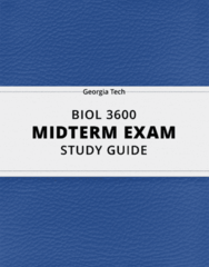 BIOL 3600- Midterm Exam Guide - Comprehensive Notes for the exam ( 25 pages long!)