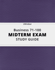 Business 71-100- Midterm Exam Guide - Comprehensive Notes for the exam ( 56 pages long!)