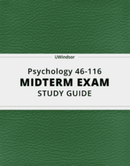 Psychology 46-116- Midterm Exam Guide - Comprehensive Notes for the exam ( 315 pages long!)