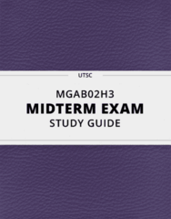 MGAB02H3- Midterm Exam Guide - Comprehensive Notes for the exam ( 31 pages long!)