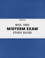 BIOL 1902- Midterm Exam Guide - Comprehensive Notes for the exam ( 23 pages long!)