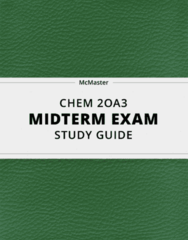 CHEM 2OA3- Midterm Exam Guide - Comprehensive Notes for the exam ( 58 pages long!)