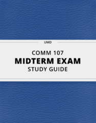 COMM 107- Midterm Exam Guide - Comprehensive Notes for the exam ( 27 pages long!)