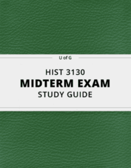 HIST 3130- Midterm Exam Guide - Comprehensive Notes for the exam ( 46 pages long!)