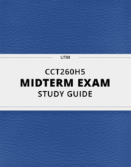 CCT260H5- Midterm Exam Guide - Comprehensive Notes for the exam ( 16 pages long!)