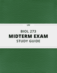 BIOL 273- Midterm Exam Guide - Comprehensive Notes for the exam ( 25 pages long!)