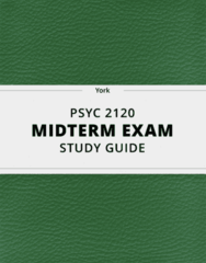 PSYC 2120- Midterm Exam Guide - Comprehensive Notes for the exam ( 66 pages long!)