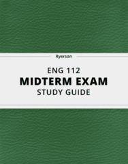 ENG 112- Midterm Exam Guide - Comprehensive Notes for the exam ( 23 pages long!)