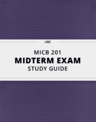 MICB 201- Midterm Exam Guide - Comprehensive Notes for the exam ( 35 pages long!)