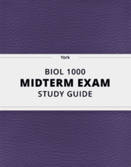 BIOL 1000- Midterm Exam Guide - Comprehensive Notes for the exam ( 13 pages long!)
