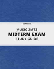 MUSIC 2MT3- Midterm Exam Guide - Comprehensive Notes for the exam ( 34 pages long!)