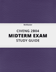 CIVENG 2B04- Midterm Exam Guide - Comprehensive Notes for the exam ( 21 pages long!)