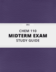 CHEM 110- Midterm Exam Guide - Comprehensive Notes for the exam ( 147 pages long!)