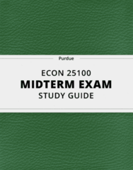 ECON 25100- Midterm Exam Guide - Comprehensive Notes for the exam ( 14 pages long!)