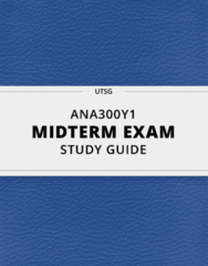 ANA300Y1- Midterm Exam Guide - Comprehensive Notes for the exam ( 21 pages long!)