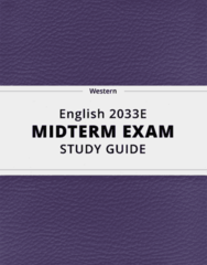 English 2033E- Midterm Exam Guide - Comprehensive Notes for the exam ( 137 pages long!)