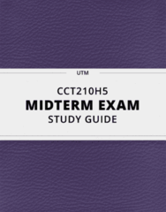 CCT210H5- Midterm Exam Guide - Comprehensive Notes for the exam ( 21 pages long!)