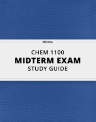 CHEM 1100- Midterm Exam Guide - Comprehensive Notes for the exam ( 25 pages long!)