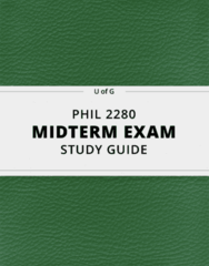 PHIL 2280- Midterm Exam Guide - Comprehensive Notes for the exam ( 12 pages long!)