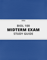BIOL 100- Midterm Exam Guide - Comprehensive Notes for the exam ( 38 pages long!)