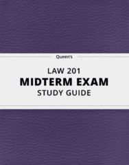 LAW 201- Midterm Exam Guide - Comprehensive Notes for the exam ( 17 pages long!)