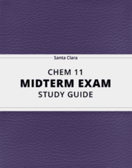 CHEM 11- Midterm Exam Guide - Comprehensive Notes for the exam ( 17 pages long!)