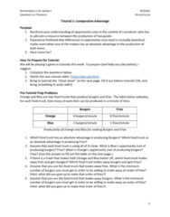 ECO100Y1 Study Guide - Quiz Guide: Food Truck, Absolute Advantage, Opportunity Cost