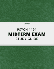 PSYCH 1101- Midterm Exam Guide - Comprehensive Notes for the exam ( 42 pages long!)