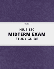 HIUS 130- Midterm Exam Guide - Comprehensive Notes for the exam ( 15 pages long!)