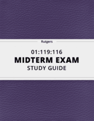 01:119:116- Midterm Exam Guide - Comprehensive Notes for the exam ( 22 pages long!)