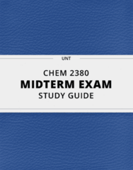 CHEM 2380- Midterm Exam Guide - Comprehensive Notes for the exam ( 47 pages long!)