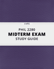 PHIL 2280- Midterm Exam Guide - Comprehensive Notes for the exam ( 32 pages long!)