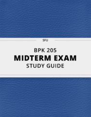 BPK 205- Midterm Exam Guide - Comprehensive Notes for the exam ( 15 pages long!)