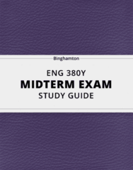 ENG 380Y- Midterm Exam Guide - Comprehensive Notes for the exam ( 29 pages long!)