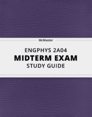 ENGPHYS 2A04- Midterm Exam Guide - Comprehensive Notes for the exam ( 14 pages long!)