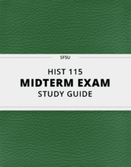 HIST 115- Midterm Exam Guide - Comprehensive Notes for the exam ( 12 pages long!)