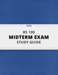 RS 100- Midterm Exam Guide - Comprehensive Notes for the exam ( 13 pages long!)